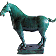 Chinese Green Glazed Standing Horse