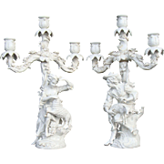 Antique Figurine Candelabra (Set)