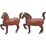 Chinese Large Cloisonne Horses (Pair)
