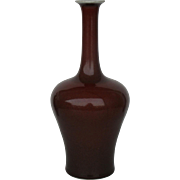 Chinese Copper Red Bottle Vase