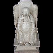 Chinese Glazed Seated Deity
