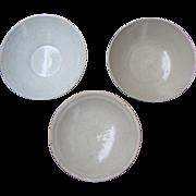 Chinese White Ware Bowls (Three)