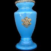 Blue Opaline & Gilt Ormolu Vase