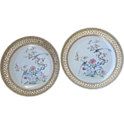 Chinese Famille Rose Chargers (Pair)