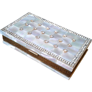 Mother of Pearl Compact/Cigarette Case by Evans early 1900s