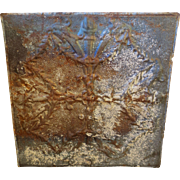 """Beautiful """"Torch"""" Pattern Antique 24"""" Tin Ceiling Tile"""