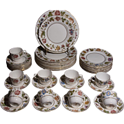 Royal Worcester Bone China Dinnerware - Virginia Pattern - 40 pieces - Mint Condition