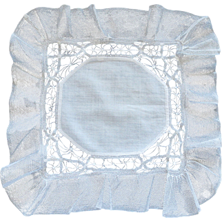 Breathtaking Antique Needlework Handkerchief