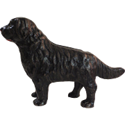Arcade Newfoundland Dog Cast Iron Still Bank