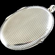 "2"" Antique European Niello Tula 800 Silver Locket Charm"
