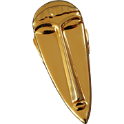 Large Vintage Gold Coloured Modigliani Pendant Brooch Signed Artist Jewelry