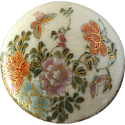 Japanese Satsuma Button Flowers and Butterflies 1 3/16""