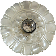 """Large Antique French 18th Century Mother of Pearl Paste Button 1 3/8"""""""