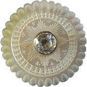 """Large Antique 18th Cent. Mother of Pearl Paste Button 1 5/16"""" France"""