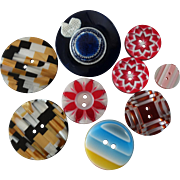"""Lea Stein France Assortment of Colourful Rhodoid Buttons -  up to 1 3/8"""""""
