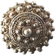"""Antique Early 19th Century 12lot Silver Filigree Button Traditional Costume 1"""""""