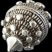 """Antique Massive 13 lot Silver Pine Cone Shape Button 1 1/16"""""""
