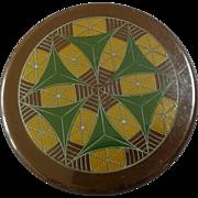 "Large Antique Celluloid Tight Top Button Geometric Design 2"""
