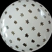 "Antique Victorian Clambroth Camphor Glass Button Black Star Pattern - just under 1 1/16"""