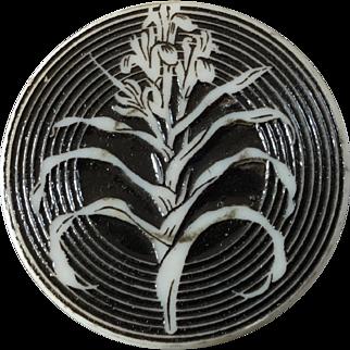 """Large Vintage Artid Plastic Button Plant 1 7/16"""""""