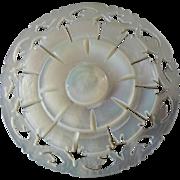 "Large Carved Openwork Mother of Pearl Bethlehem Holy Land Jordan Pearl Button Flower 1 7/16"""