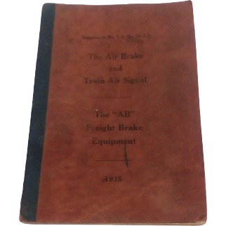 1935 Pennsylvania Railroad Air Brakes Manual