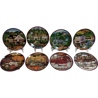'The Peppercricket Grove' by Charles Wysocki Collector Plate Set