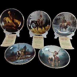 'The Mystic Warriors' by Chuck Ren Collector Plate Set