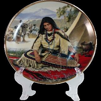 'Sacajewea' by David Wright Collector Plate
