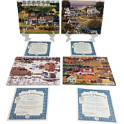 The Bradford Exchange 'Color of the Season' Collection by Charles Wysocki Set