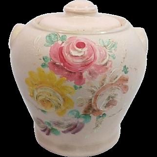 1930's Ransburg Hand painted Cookie Jar