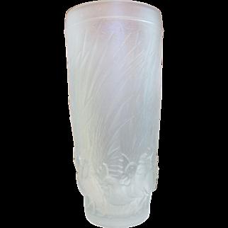 Vintage 1950's Czech Glass Vase