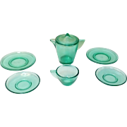 Akro Agate Depression Glass Child Tea Dishes circa 1930-40