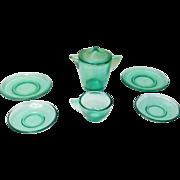 Akro Agate Depression Glass Child Tea Dishes circa 1930-40