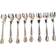 """Sterling """"Chantilly"""" by Gorham Ice Cream Forks.  Set of 8."""