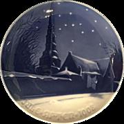 "Annual Christmas plate by Bing & Grondahl.  1908 ""St. Petri Church"""