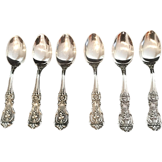 "Sterling ""Francis I"" by Reed & Barton Demitasse Spoons.  Set of 6."
