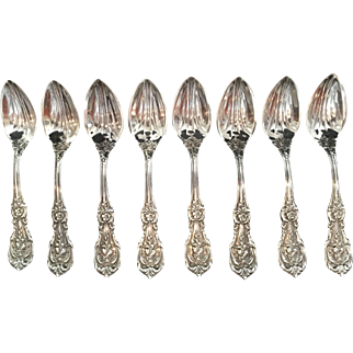 "Sterling ""Francis I"" by Reed & Barton Citrus Spoons.  Set of 8."
