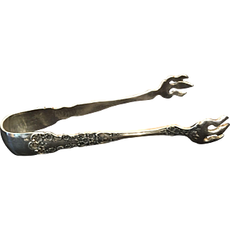 "Sterling ""Buttercup"" by Gorham Sugar Cube Tongs"