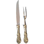 """Sterling handle """"Francis I"""" by Reed & Barton Two-Piece Steak Carving Set"""