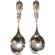 """Sterling """"Francis I"""" by Reed & Barton set of 2 cream soup spoons – old mark"""