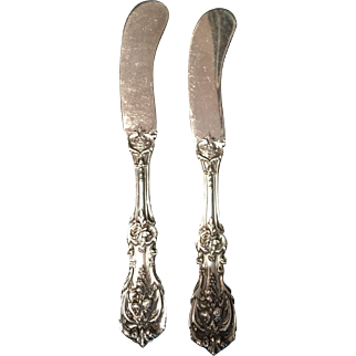 "Sterling ""Francis I"" by Reed & Barton set of 2 flat butter spreaders"