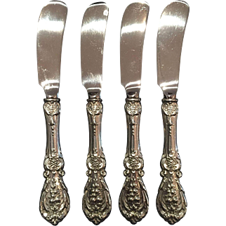 "Sterling ""Francis I"" by Reed & Barton set of 4 butter spreaders – paddle blade"