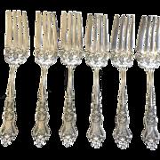 """""""Moselle"""" set of 6 salad forks"""