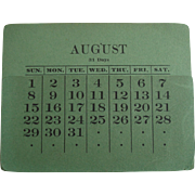 Original Calendar Pages For Tiffany Studios Desk Set Frames