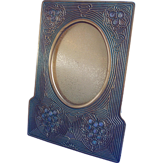Tiffany Studios Bronze Abalone Pattern Picture Frame