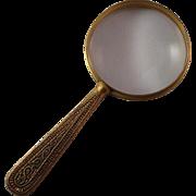 Rare Tiffany Studios Venetian Pattern Bronze Reading Magnifying Glass