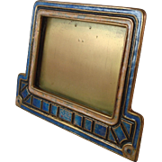 Rare Tiffany Studios Furnaces Art Deco Enameled Picture or Calendar Frame