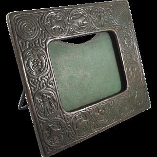 Tiffany Studios Bronze Zodiac Pattern Picture Calendar Frame - Beautiful Patina