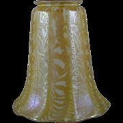 Quezal Art Glass Snakeskin Shade